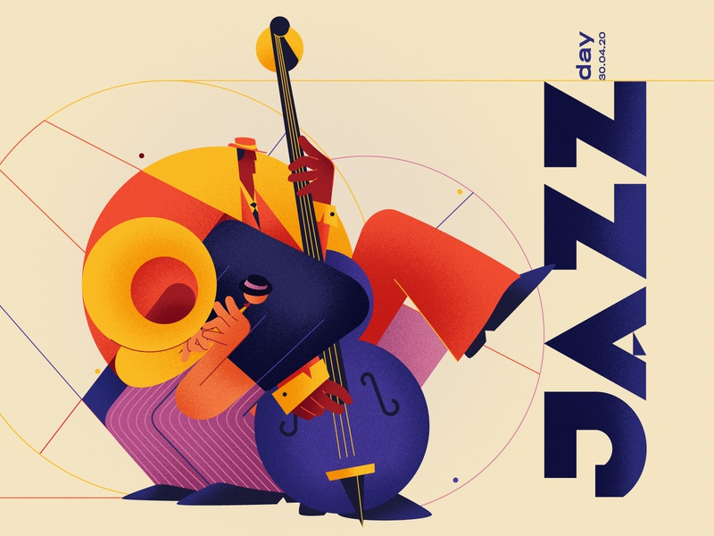 April 30th : Jazz Day design character international day epic agency cubism texture music jazz illustration epic