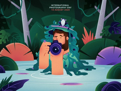 19 August : International Photography Day landscape international day photographer frog epic agency epic character jungle photography camera illustration