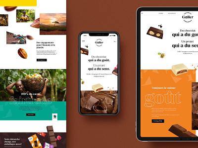 Galler homepage mobile epic ui webdesign chocolate bar website homepage design bar chocolate