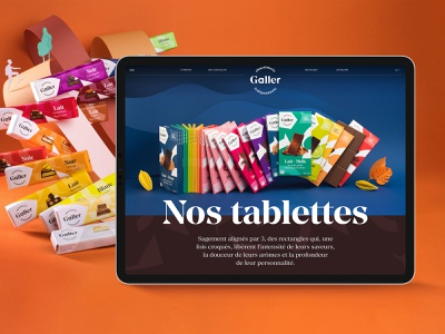 Galler epic website chocolate bar webdesign tablet design chocolate