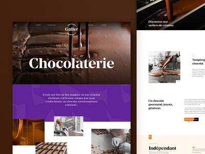 Galler - chocolaterie epic ui chocolate bar food chocolate storytelling webdesign website