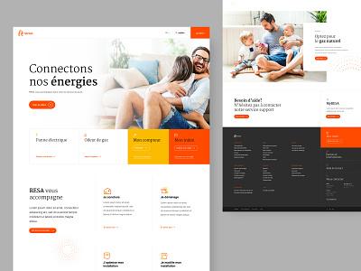 RESA - homepage epic pictogram webdesign website design provider electricity gas energy corporate website