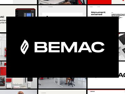 BEMAC branding & website alarm service product epic agency fire corporate photography ui website epic logo branding