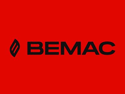 BEMAC logo epic agency red service fire corporate logo epic branding