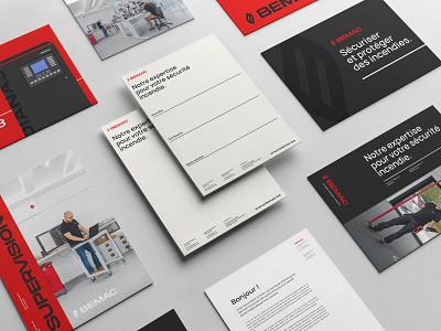 BEMAC - Branding print epic agency website corporate fire red baseline logotype photography business card brochure print branding