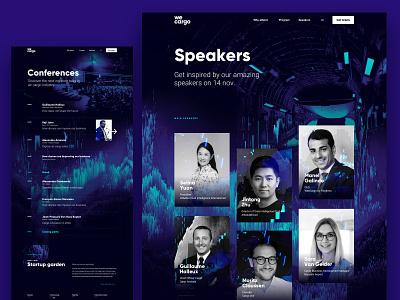 wecargo - website webgl schedule program logo design conference speakers layout airport cargo event branding website