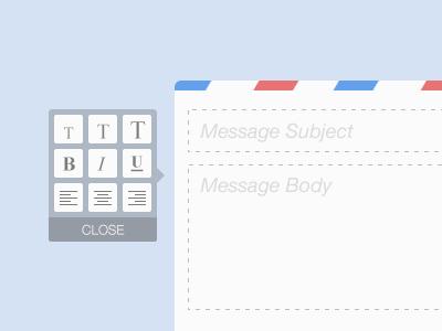 Message Composer (Rich Text) rich text messaging compose mail message
