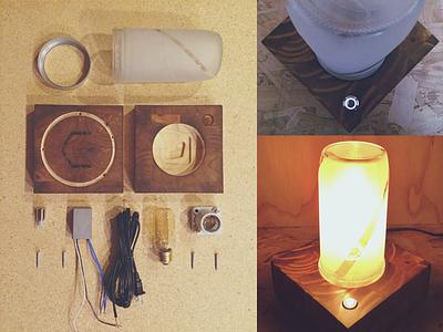 Jar Lamp Collage cnc tangible lamp jar