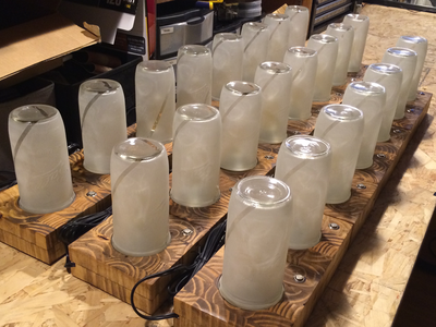 A bunch of Jar Lamps jar lamp lamps tangible cnc
