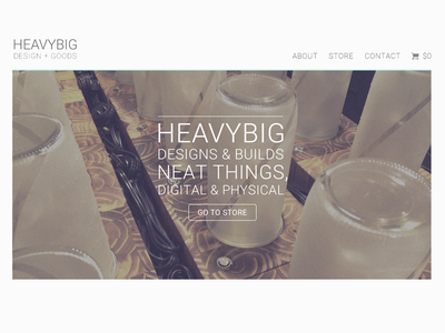 Landing page for Heavybig landing page heavybig lamps