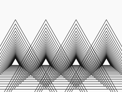 Abstract Triangles triangles abstract black white