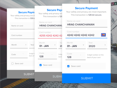 Credit Card Checkout - #002 002 dailyui 100dayui