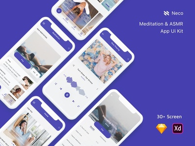 Meditation & ASMR App Ui Kit