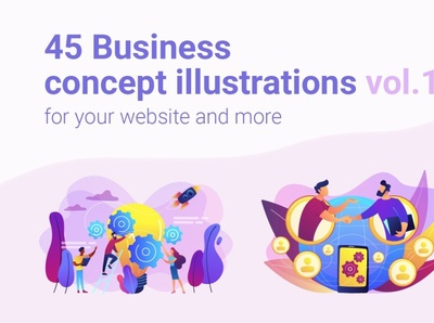 Business concept illustrations vol.1