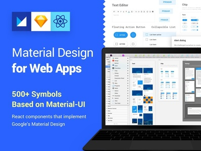 Material Design Kit for Web Apps