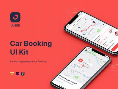 JUBER - Car Booking mobile UI Kit