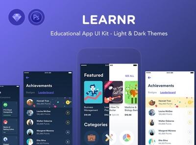 Learnr - Online Courses UI Kit