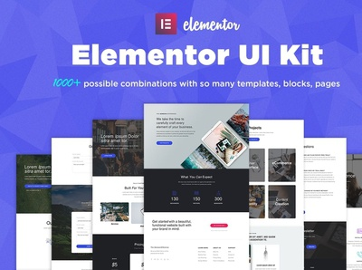 Elementor UI Kit, Templates, Blocks