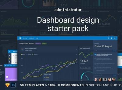 Administrator: Dashboard Design Pack