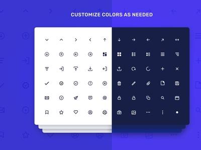 80 Dashboard UI Line Icon Set