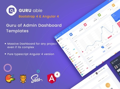 Guru Able BS 4 & Angular 4 Dashboard
