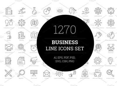 1270 Business Line Icons