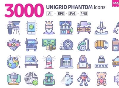 3000 Unigrid Phantom icons