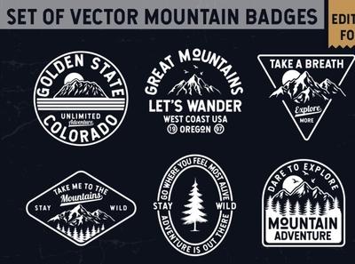 Vector Mountain Badges