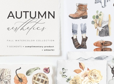 AUTUMN AESTHETICS watercolor clipart