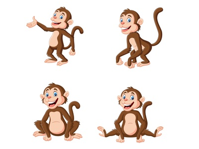 Cartoon monkeys collection