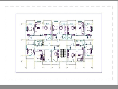Apartment building 2D Floor Plan