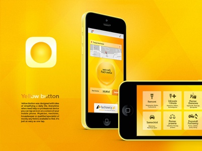 Yellow Button app mobile ui ux dribbble interface web appdesign flat ios icon iphone6