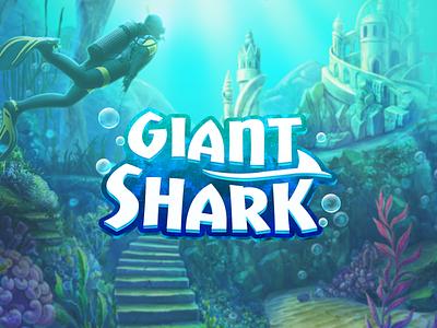 Game logo design - giant shark logo font design game title