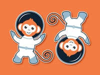 Space Monkey Stickers