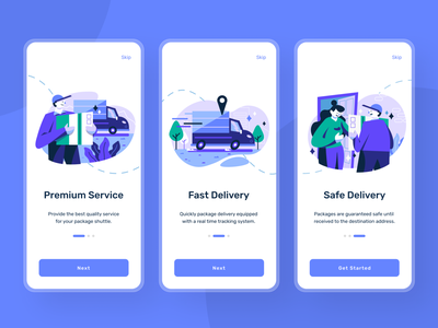 Delivery Mobile - App mobile uiux express mobile design design uiux minimalist delivery app package app design courier mobile ui iphone 11 pro app ux character design character vector illustration flat design ui