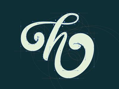 Letter H : Bezier Curves logo icon illustration type tye letterforms handlettering lettering