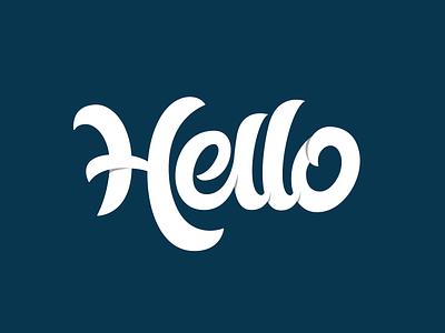 Revised : Hello Lettering lettering artist branding logodesign vector logotype logo typography lettering