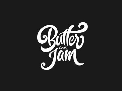 Butter & Jam : Lettering hand-lettering branding logo typography lettering