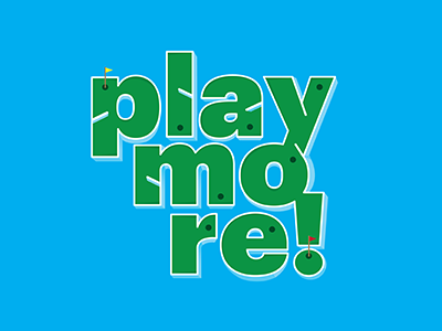 Personal Mantra self-promo mantra play more tyopgraphy mini-golf illustration