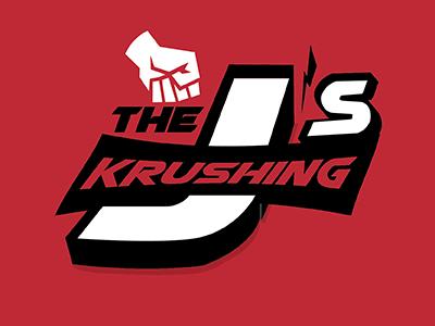 Screwing around at work crushing it team logo just for fun