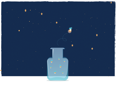 Fortune Favors the Curious constellation reach for the stars firefly mantra illustration