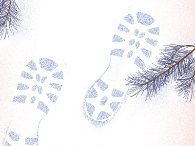 Warmest Wishes winter wonderland colors of the year 2015 pantone hike winter snow footprints seasons greetings new years christmas