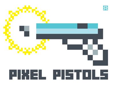 Pixel Pistols just for fun team branding 8 bit