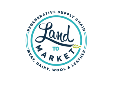 Land to Market Logo exploration agriculture regenerative sustainable branding logo