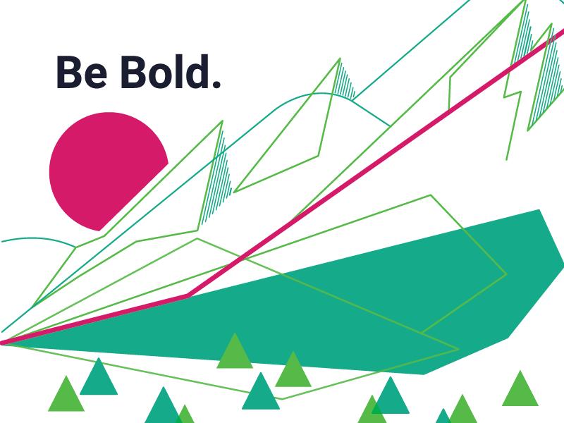 Flatirons for Work flatirons mountains triangles office art startups boulder