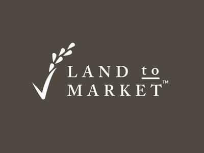 Land to Market Logo boulder co logos sustainability farming regenerative farming land to market