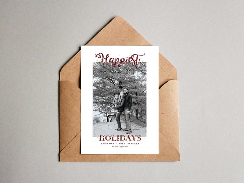 Happiest Holidays holiday card christmas card family christmas card holidays christmas
