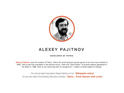 Tribute To Alexey Pajitnov