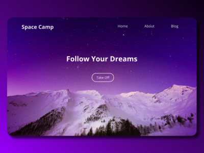 Space Camp Landing Page ui design front-end