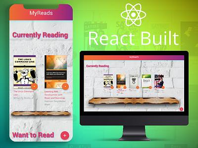 MyReads App ui  ux react front end